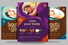 Beauty Spa Promotion Flyer V2 by Satgur Design Studio on @creativemarket