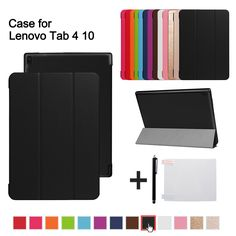 """Magnetic Case For Lenovo TAB 4 10 Protective Smart cover for lenovo tab410 Tab4 10 TB-X304N F Cases 10.1"""" (2017 release)+gift"""