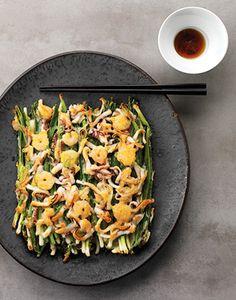 Pajeon (Spring onion pancakes)