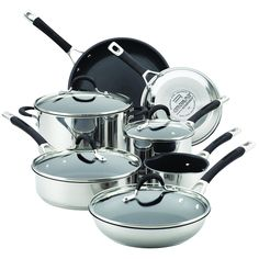 Circulon 78003 11 Piece Momentum Nonstick Cookware Set, Stainless Steel -- More info could be found at the image url.