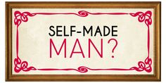 The Art of Giving series- Self Made Man? #generosity #giving