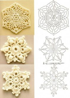 Crochet Snowflakes: diagram.   #crochet #lace                                                                                                                                                     More