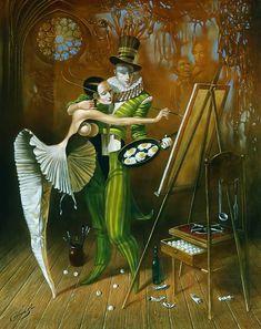 Michael Cheval   – Inspiración Ciega II - óleo sobre lienzo