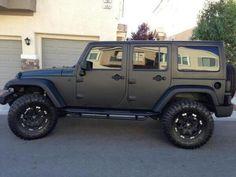 ideas for dream cars jeep matte black Jeep Jk, Jeep Rubicon, Jeep Truck, Jeep Wrangler Unlimited, Maserati, Lamborghini, Ferrari, Dream Cars, My Dream Car