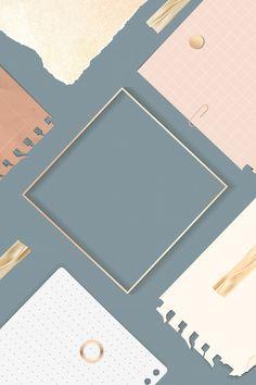 Ripped notes square frame vector | premium image by rawpixel.com / kenbaolocpro Blue Wallpaper Iphone, Aesthetic Desktop Wallpaper, Pastel Wallpaper, Flower Wallpaper, Wallpaper Backgrounds, Back To School Wallpaper, Vector Can, Vector Free, Book And Frame