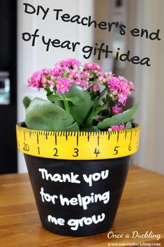 'Thank you' end of year teacher's gift