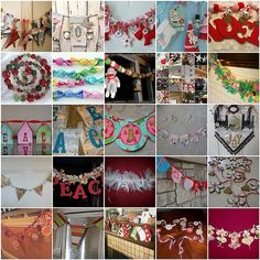 Christmas Garland Inspiration Mosaic (with links to each garland), great for class different strokes for different kiddos