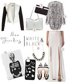 Trends: Black & White {& Pretty Things}