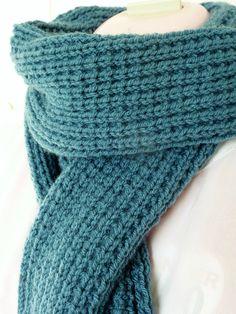 Sandstitch knitting tutorial Crochet is definitely a procedure of earning fabrics simply using a crochet Slip Stitch Crochet, Tunisian Crochet, Crochet Yarn, Knitting Stiches, Knitting Patterns, Easy Knitting, Double Crochet, Single Crochet, Scarf