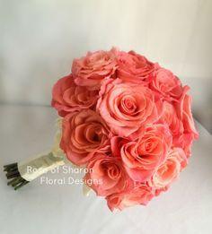 Coral rose bouquet