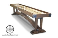 This Craftsman Shuffleboard is just one of the custom, handmade pieces you'll find in our home & living shops. Bespoke Furniture, Solid Wood Furniture, Modern Furniture, Outdoor Furniture, Outdoor Decor, Garage Game Rooms, Basement Games, Small Wooden Desk, Arcade Table