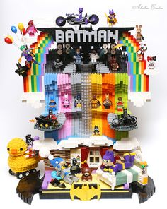Colorful Dream Batcave by Alanboar Cheung Real Batman, Spiderman, Lego Batman Movie, Batman Batman, Lego Dc, Lego Marvel, Lego Minecraft, Minecraft Skins, Minecraft Buildings