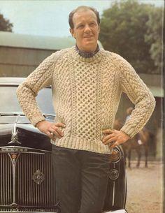 Lewis Aran • 1960s Men's Pullover Patterns • 60s Vintage Cabled Knitting Pattern • Retro Knit PDF