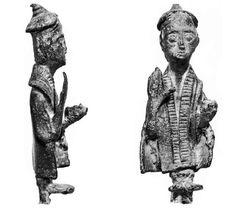 Sardinia, bronze sculpture, it is assumed depicts the medicine man