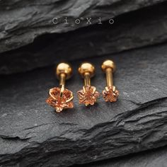 triple helix earring cartilage earring tragus earring by CioXio