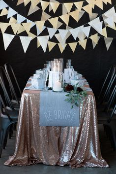 Minted New Year's Eve Silver & Gold Party via ruffledblog.com