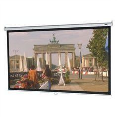 "Da-Lite Model B Matte White Manual Projection Screen Viewing Area: 52"" H x 92"" W"