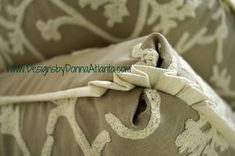 A pillow with Turkish corners and pleated flange. Love the fabrics…