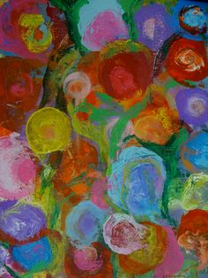 'Flower Garden.' The abstract floral series.  SOLD http://www.erikaavery.com