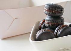 Chocolate-Liqurice Macarons