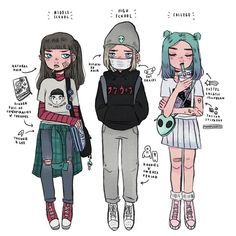 #spacegirl a g e  u p !  talk about grow spurt heh • • • #ageup #timeskip #oc #instaart #doodles