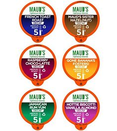 Maud's Gourmet Coffee Pods, Decaf Flavored Collection, 100 Single Serve Coffee Pods *** For more information, visit image link.