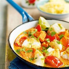 Fish and sweet potato curry