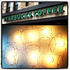 Upper West Side – Starbucks and the City Cinnamon Bears, Upper West Side, Starbucks Drinks, Christmas Morning, Hot Coffee, Broadway, Table Lamp, Nyc, Neon Signs