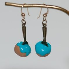 hand made french earring chou a french bakery    $37