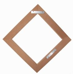 Use a Rayne Square Mirror to create diamond mirror shaped wall decor, hardware included! Square Mirrors, Mirror Shapes, Real Wood, Accent Decor, Wall Decor, Hardware, Diamond, Create, Projects