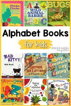 Alphabet books are just the ticket to make learning the alphabet easy and fun! Whether you're looking for alphabet books that are fiction, informational, or interactive, we've got the perfect ABC book for circle time. Teaching The Alphabet, Alphabet Activities, Math Activities, Alphabet Books, Wild Book, Alphabet Sounds, Mo Willems, Apple Books, Preschool Books