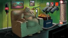 Artist Steve Cutts is a freelance illustrator based in London. He creates satirical illustrations that portray the (sad) truth about the world we live in. Art And Illustration, Creative Illustration, Satire, Caricatures, Satirical Illustrations, Art Illustrations, Powerful Art, Powerful Images, Strange Places
