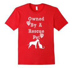 Amazon.com: Owned By A Rescue Pet Shirt Dog Cat Pets Animals: Clothing