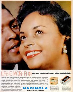 Analysis: When it comes to representations of black women, Jasmine Chorley argues that the modelling industry in 2015 looks a lot like it did in 1955. (An advertisement for Nadinola Bleaching Cream in Ebony Magazine fromJanuary1960)