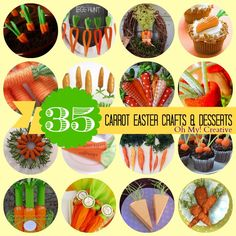 35 Carrot Easter Crafts & Desserts – OhMy-Creative.com Related Posts:Adorable Easter Free Printable ArtWhimsy Wednesday Link Party 211Carrot Sugar Scrub And Free Printable TagFree Printable Hoppy Easter Gift Tags30 Creative Deviled Egg And Hard Boiled Egg Holiday IdeasPeeps Pudding Pops