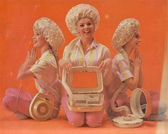 Yup, we had one of these Bonnet Hair Dryers!