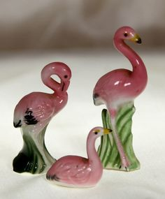 Vintage Americana Retro Pink Flamingos 1950 Miniature by Ariamel, $50.00