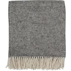 By Nord Hugin Throw Charcoal/Birch (€110) ❤ liked on Polyvore featuring home, bed & bath, bedding, blankets, accessories, fillers, scarves, grey, dark grey bedding and textured bedding