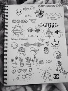 Imagem de drawing, grunge, and draw doodles Tumblr Sketches, Tumblr Drawings, Small Drawings, Doodle Drawings, Easy Drawings, Doodle Art, Art Sketches, Hipster Drawings, Vexx Art