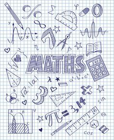 Photo about Vector illustration of Hand drawn Mathematics set. Illustration of hand, pencil, divider - 49433711 Notebook Covers, Binder Covers, Math College, School Notebooks, Decorate Notebook, School Subjects, School Notes, Cover Pages, Doodle Art