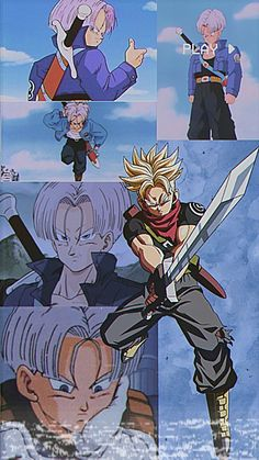 Dragon Ball Z, Dragon Ball Image, Anime Manga, Anime Guys, Trunks Super Saiyan, Goten Y Trunks, Dbz Wallpapers, Dbz Characters, Naruto Comic