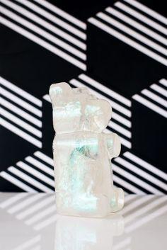 Pop Art inspired gummi bear that is iridescent and clear. Makes fun shelf art or children's home decor. Baby Girl Nursery Decor, Gummy Bears, Kids House, Cute Kids, Iridescent, Kid Stuff, Modern, Pop Art, Shelf