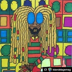 """#Repost @islandstagemag  Meet Artist Ziv Lahat """"From earlier Reggae and Rastafari was in my veins. I loved to listen to Alpha BlondyBob MarleyJacob MillerRas MichaelGregory IssacsLee Scratch Perry and many more...Rastafari and Reggae Brought to me the light and the good vibes in my life."""" See some of Ziv's Rasta pieces in the article on Island Stage  #RastaArt #StreetArtist #Illustrator#Painter#LowbrowArtist #Fashion  #ToyDesigner  #IslandStageMag  http://ift.tt/2h5pdKV"""