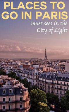 It's renowned for city chic, it's people for their creative cool and cosmopolitan outlook but what are the best places to go in Paris, France? Discover the must sees in the City of Light. Pic: Luke Chan