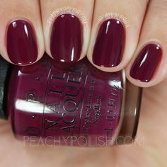 OPI What's The Hatter With You? | Alice Through The Looking Glass Collection | Peachy Polish #red #purple