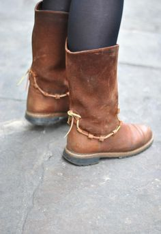 Brown suede & leather festival boots   Working Class Hero Vtg   ASOS Marketplace