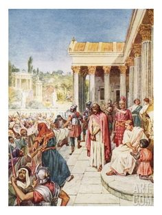 Pilate Yielding Jesus to Be Crucified Giclee Print by William Brassey Hole at Art.com