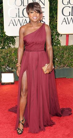 Viola Davis in Emilio Pucci at the 2012 Golden Globes