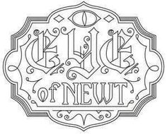 Eye of Newt Apothecary Label_image Halloween Labels, Halloween Crafts, Halloween Apothecary, Halloween Potions, Free Coloring Pages, Coloring Sheets, Coloring Books, Embroidery Patterns, Cross Stitch Patterns