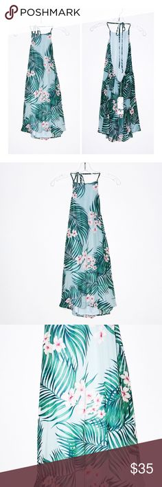 ... Katy Halter Dress NWT Show Me Your Mumu Katy Halter Dress NWT Poly  blend Fully lined Halter strap ties around neck Neckline to hem measures  approx 76 cm ... cfa257b4c